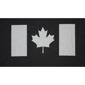 Poco Miltary Grey Canada Flag on Black T-Shirt