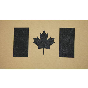 Poco Miltary Black Canada Flag on Tan T-Shirt