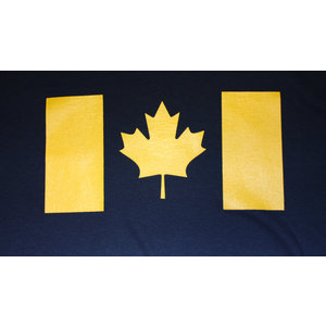 Poco Military Yellow Canada Flag On Navy T-Shirt