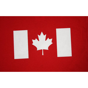 Poco Military White Canada Flag On Red T-Shirt