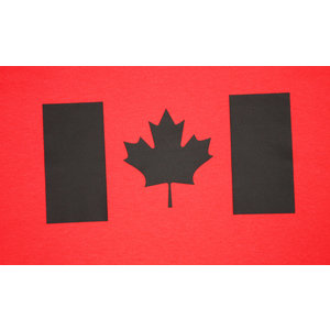 Poco Miltary Black Canadian Flag on Red T-Shirt