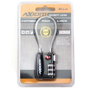 Axiom Axiom 30mm Cable Lock (Combo) XCL9