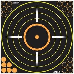 "Allen Company Allen ezSee Adhesive Bullseye Target Pack of 5 - 12"" (#15222)"