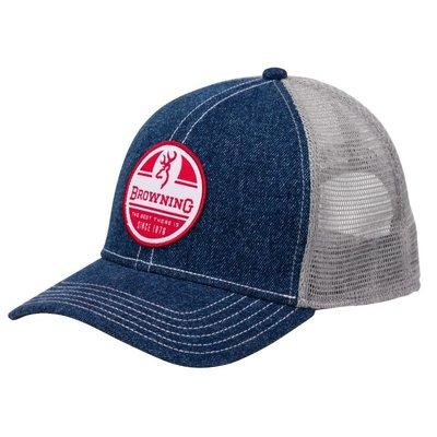 Browning Browning Logo Baseball Cap - RWB Denim (Mesh)