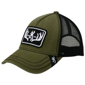 Browning Browning Logo Baseball Cap -Typical Loden (Mesh, Olive Drab)