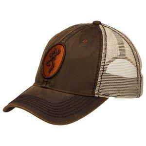Browning Browning Logo Baseball Cap - Cody (Mesh Brown) Oramge Buckmark