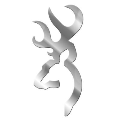 """Browning Browning Decal - Chrome Silver (6"""")"""