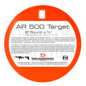 "Drummond Shooting Drummond 6"" Round Steel Target (3/8"")"