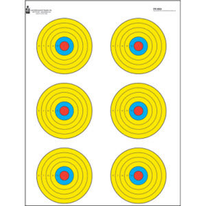 Law Enforcement Targets High Visibility Fluorescent 6 Bull's-Eye Target (PR-BE6)
