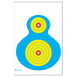 Law Enforcement Targets High Visibility Fluorescent Silhouette Target (PR-WB1)