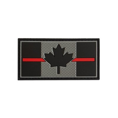 Tactical Innovations Canadian Thin Red Line Patch - SWAT (PVC)