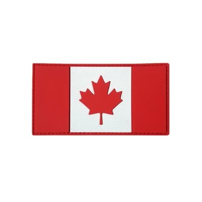 Tactical Innovations Canada Flag Patch (Red & White) PVC