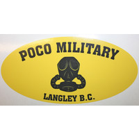 "Poco Miltary Poco Military ""GAS MASK"" Logo Sticker"