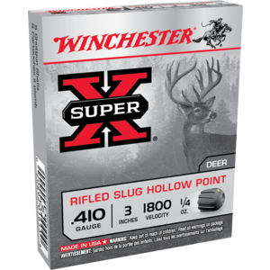 "Winchester Winchester Super-X 410 Gauge 3"" 1/4 oz Slugs (#X413RS5)"