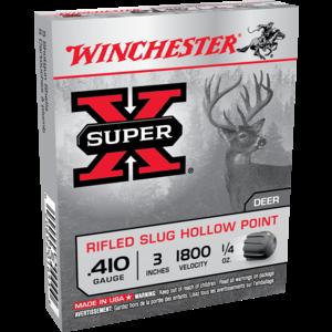 "Winchester Winchester Super-X 410 Gauge 3"" 1/4 oz Slugs (#X413RS5)"