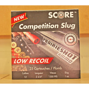 "Score Score Competition 12 Gauge 2-3/4"" 1oz Low Recoil Slugs"