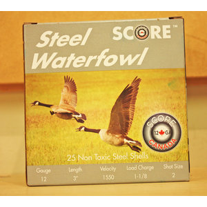 "Score Score Steel Waterfowl 12 Gauge 3"" #2 Shot (1550 FPS / 1-18oz)"