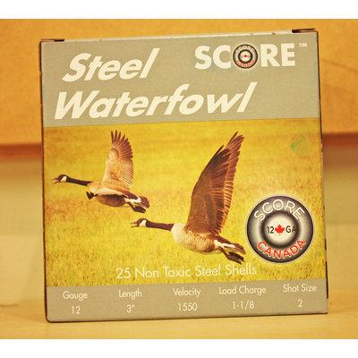 """Score Score Steel Waterfowl 12 Gauge 3"""" #2 Shot (1550 FPS / 1-18oz)"""