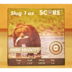 "Score Score High Velocity 12 Gauge 2-3/4"" 1oz Slugs"