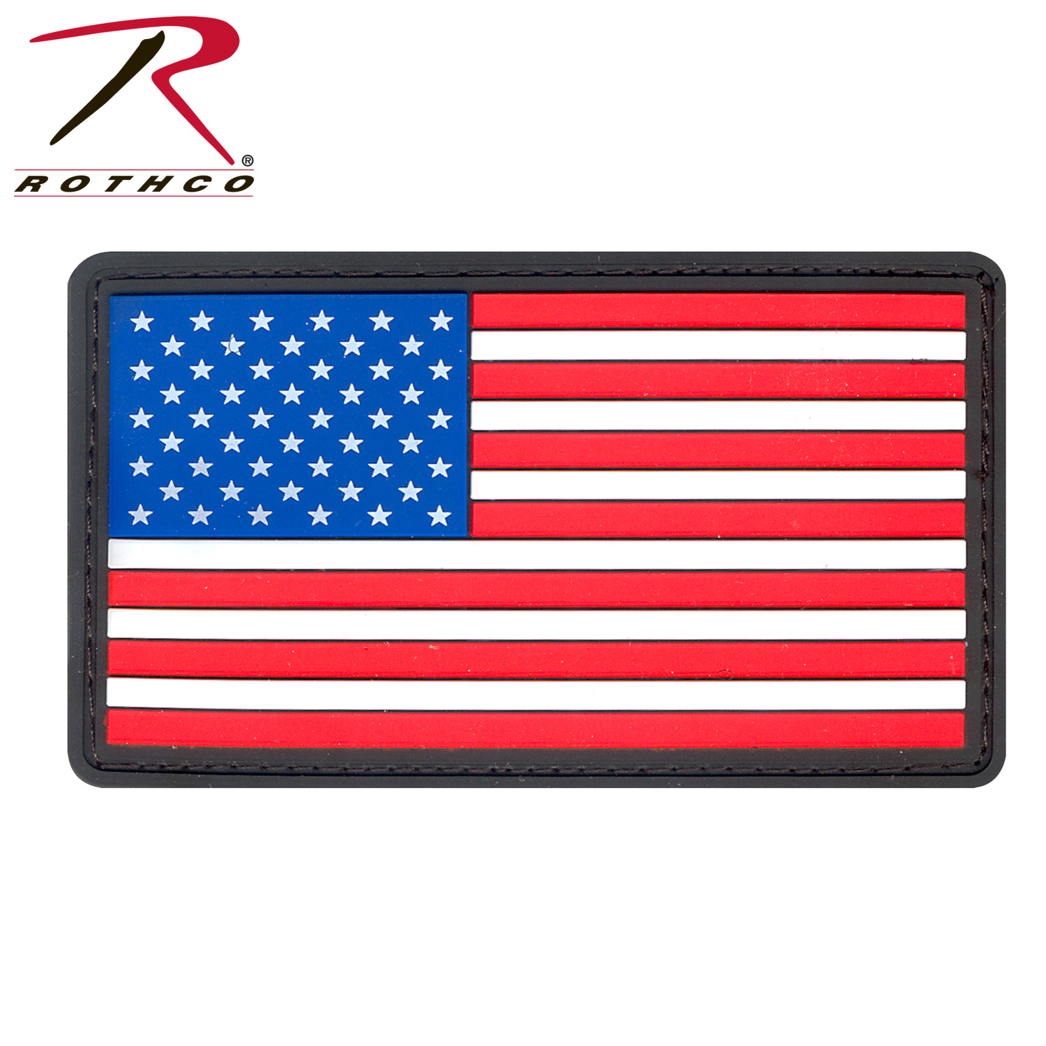 c4d0aacb047f USA Flag Patch (PVC, Velcro) Red, White & Blue