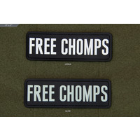 "Milspec Monkey Free Chomps PVC Morale Patch (6"" x 2"")"