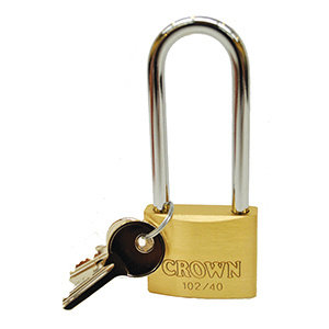 "Crown Padlock (1 1/2"" x 3 1/2"") 10440-C-LS90"
