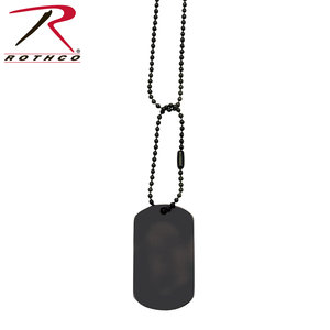 Rothco Black Dog Tag (Single Tag )