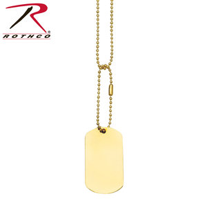 Rothco Gold Dog Tag (Single Tag)