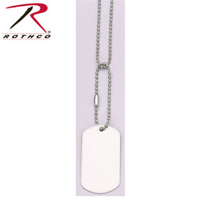 Rothco Matte Grey Dog Tag (Single Tag)