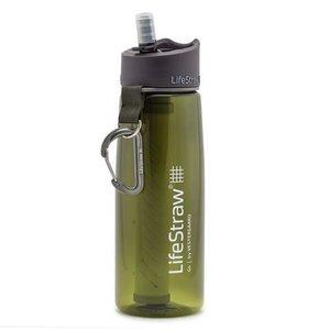 LifeStraw SA Lifestraw GO Water Bottle & Filter Straw (Dark Green)