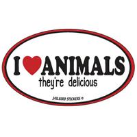 I Love Animals Sticker
