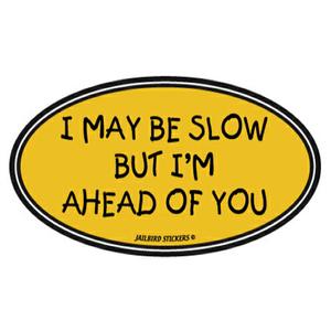 I May Be Slow Sticker