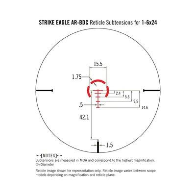 Vortex Vortex Strike Eagle 1-6x24 AR-BDC Scope (#SE-1624-1)