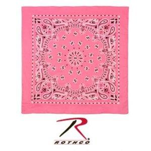 """Rothco Rothco Trainmen Bandana (White on Pink) 22"""""""