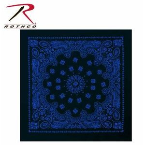 Rothco Rothco Trainmen Bandana (Blue on Black) 22""