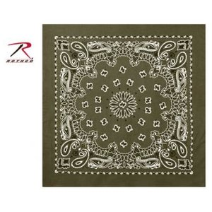 Rothco Rothco Trainmen Bandana (White on Olive Drab) 22""