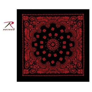Rothco Rothco Trainmen Bandana (Red on Black) 22""