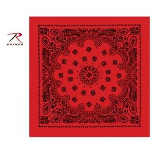 Rothco Rothco Trainmen Bandana (Black on Red) 22""