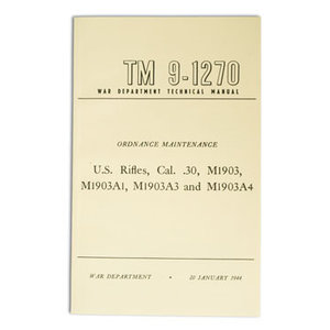 Repro Manuals Springfield Rifle Manual (TM 9-1270)