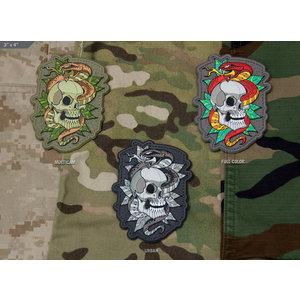 Milspec Monkey Skull Snake Tattoo Patch