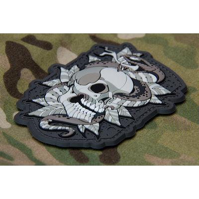 Milspec Monkey Skull Snake Tattoo Patch
