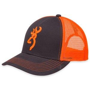 Browning Browning Flashback Char/Neon Orange Logo Baseball Cap