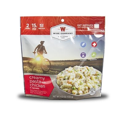 Wise Wise Outdoor Meal - Creamy Pasta With Chicken & Veggies (122G)