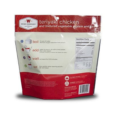 Wise Wise Outdoor Meal - Teriyaki Chicken And Rice  (170G)