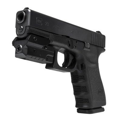 NcStar Vism Compact Pistol Green Laser w/Strobe (VAPRLSMCG)