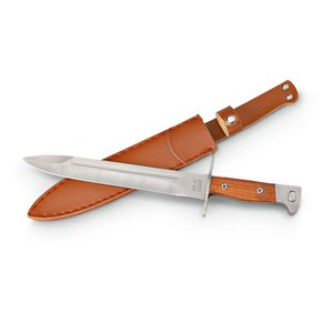 World Famous Replica AK-47 Bayonet - Wood Handle Leather Sheath (6842)