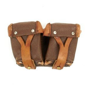Russian Military Surplus Mosin Nagant DOUBLE Pouch (Leather)