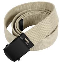 Mil-Spex MIL-SPEX Khaki Military Web Belt (Black Metal Buckle) 3170-KHA