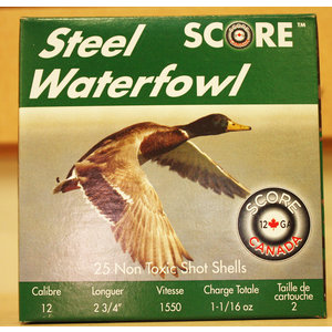 "Score Score Steel Waterfowl 12 Gauge - 2 3/4"" #2 Shot (1550 FPS / 1-16 oz)"