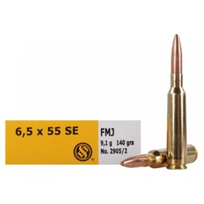 Sellier & Bellot 6.5x55nn FMJ (140 GR / 20 Rounds) #2905